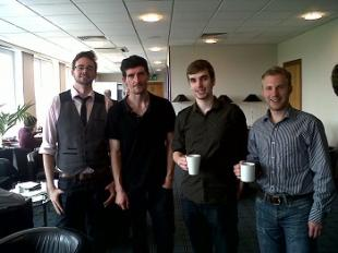 IDCORE Research Engineers David Haverson, Anthony Gray, Michael Smailes and Finlay Wallace take part in Energy Young Entrepreneurs Scheme (Energy YES) 2013